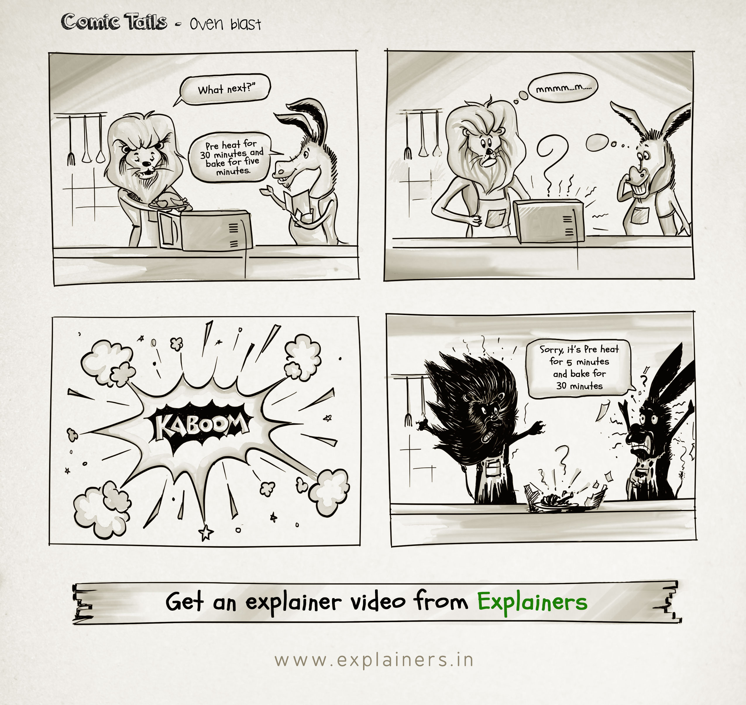 Comic Tails, Oven Blast, Explainers