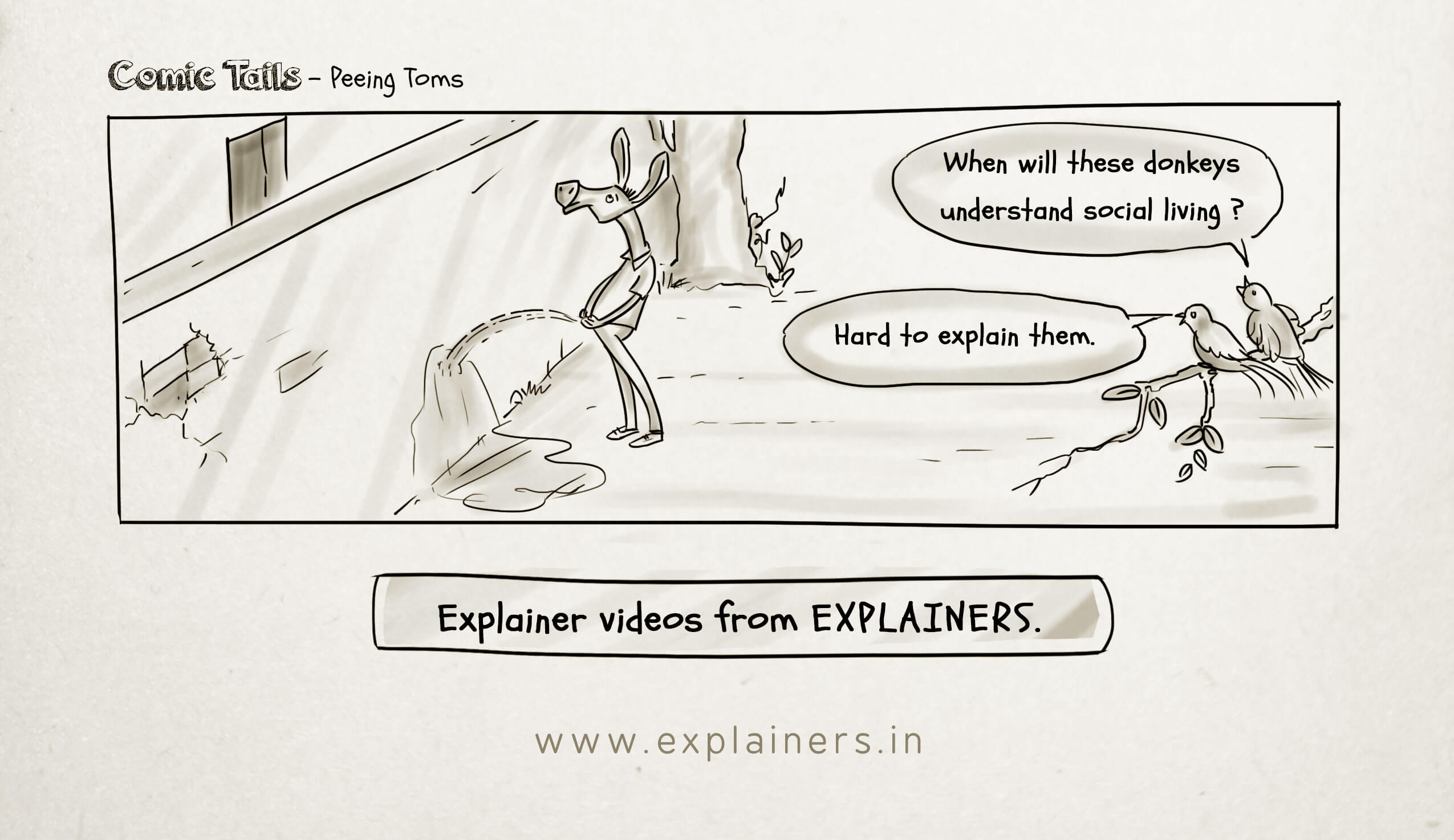 Comic tails, Explainers, Explainers comic