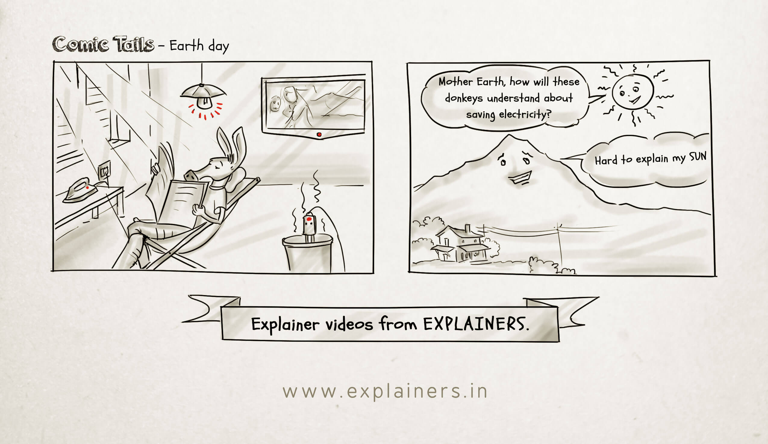 Comic Tails, Earth Day, Explainers