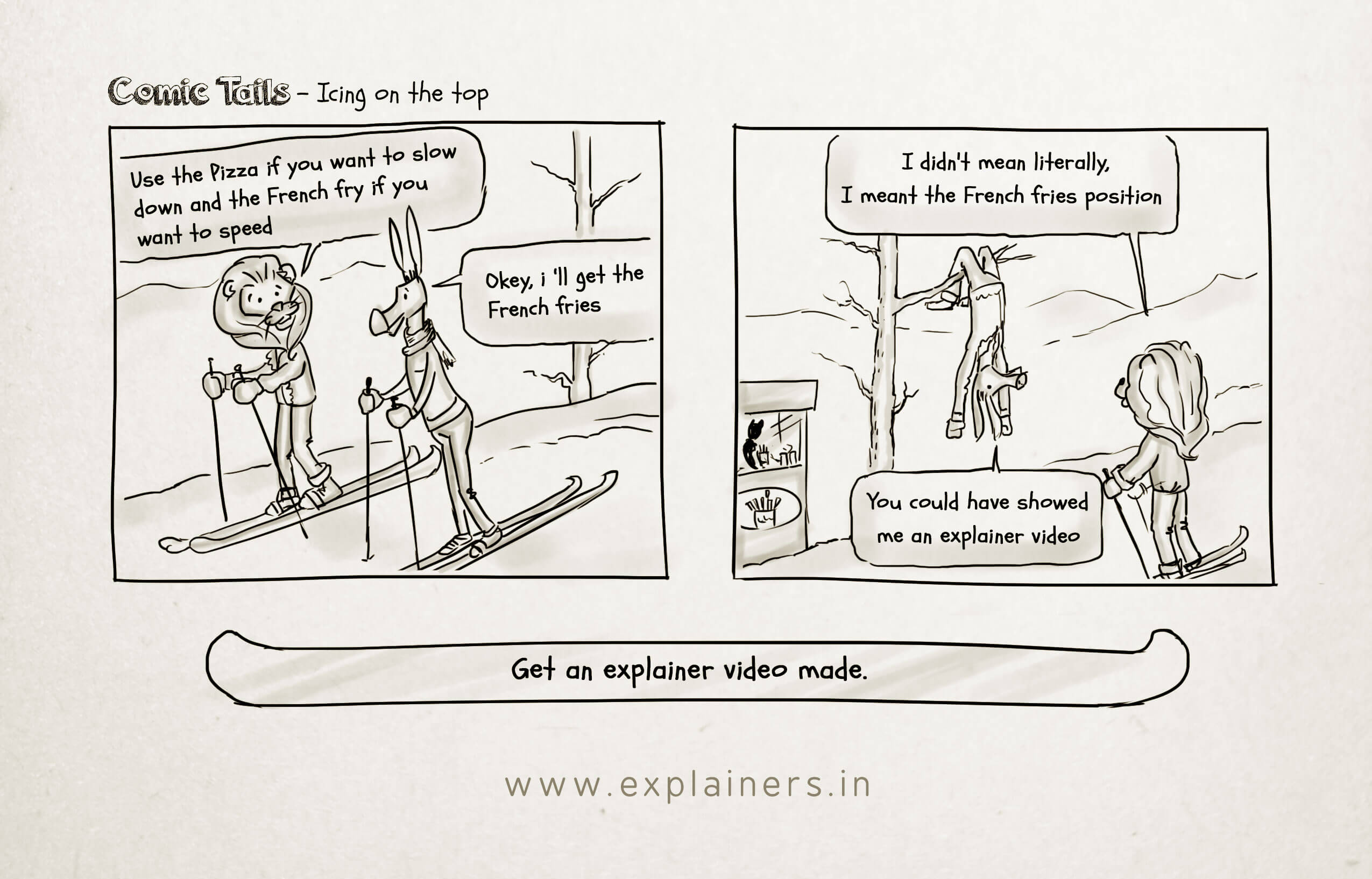 Comic Tails, Icing on the top, Explainers, Animated Explainer video, Animation