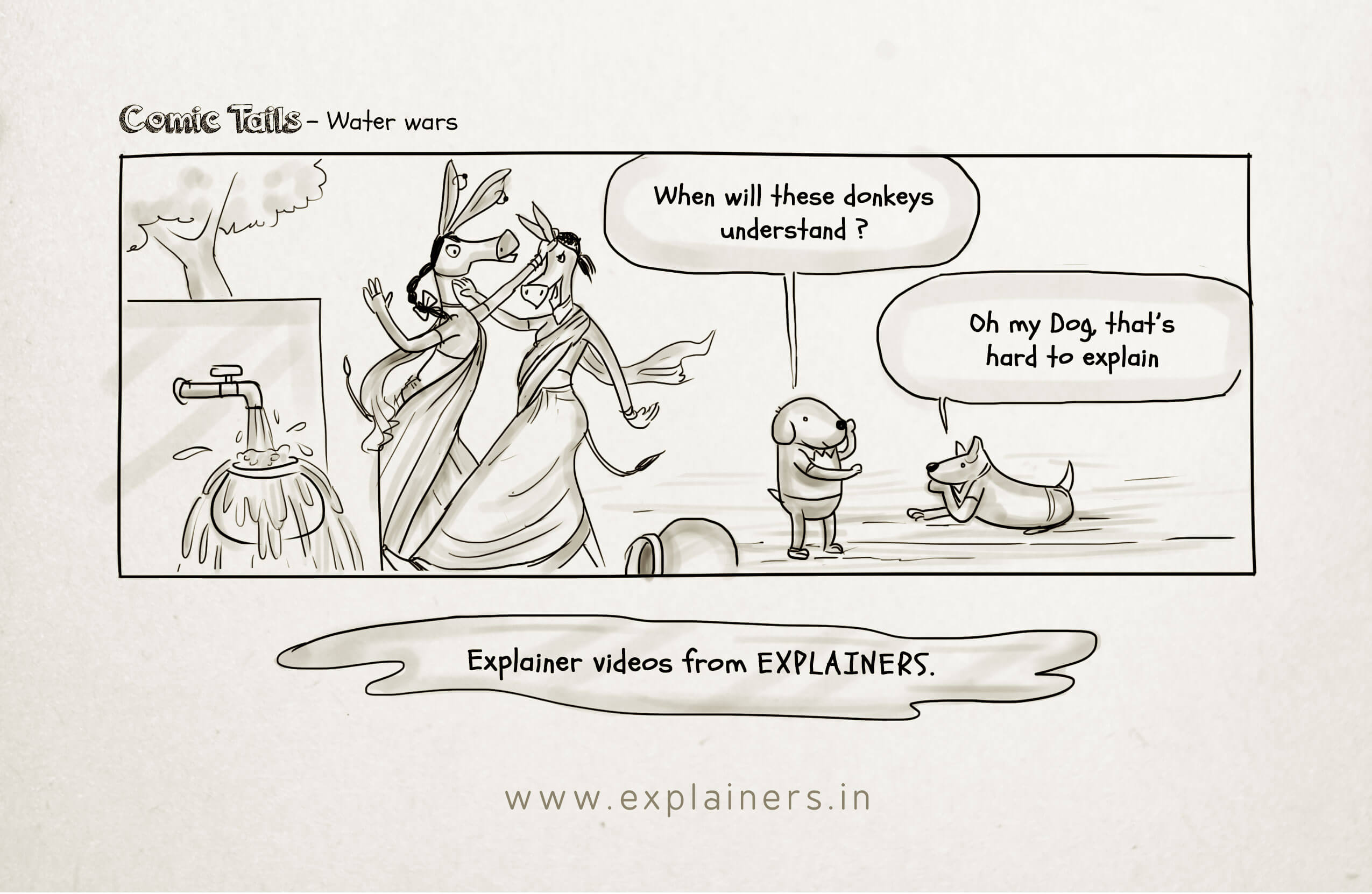 Comic Tails, Water wars, Explainers, Animation Videos