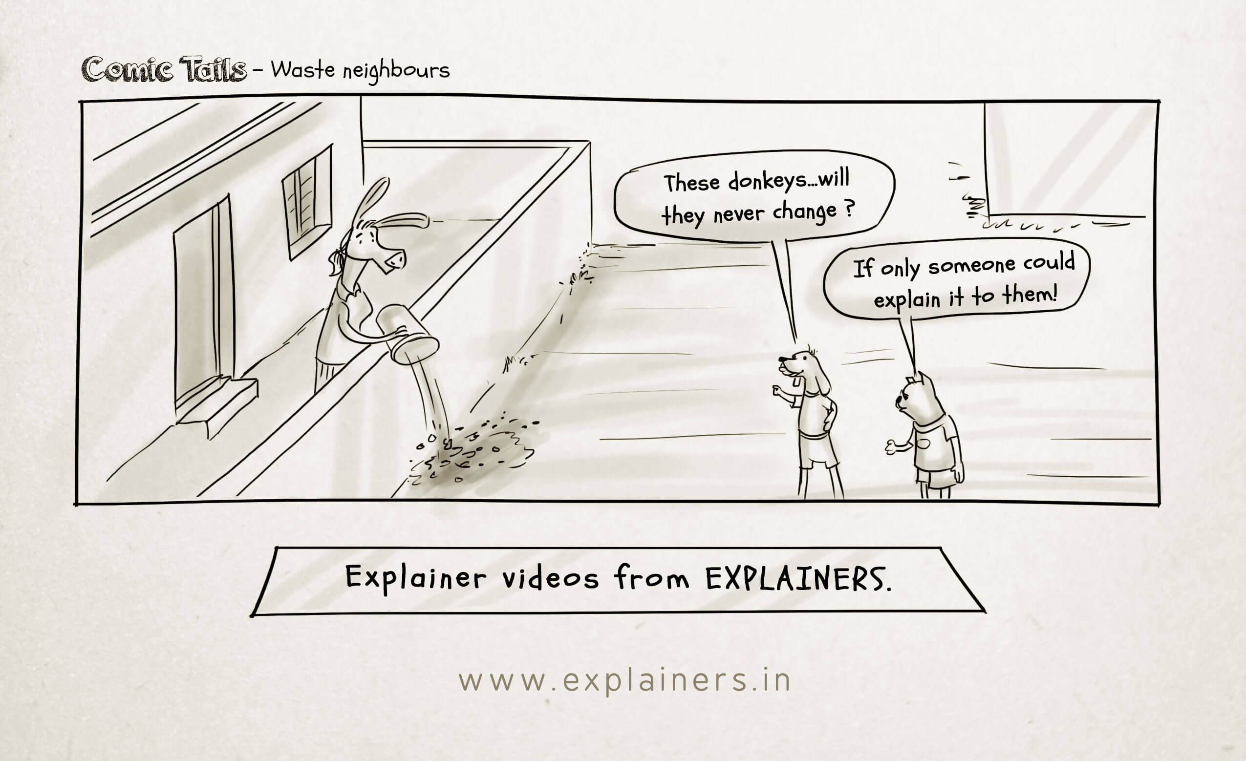 Comic Tails, comic, Explainers video, explainers, animated explainer video, animation video, animation production company, explainer video production company, explainer video company in india