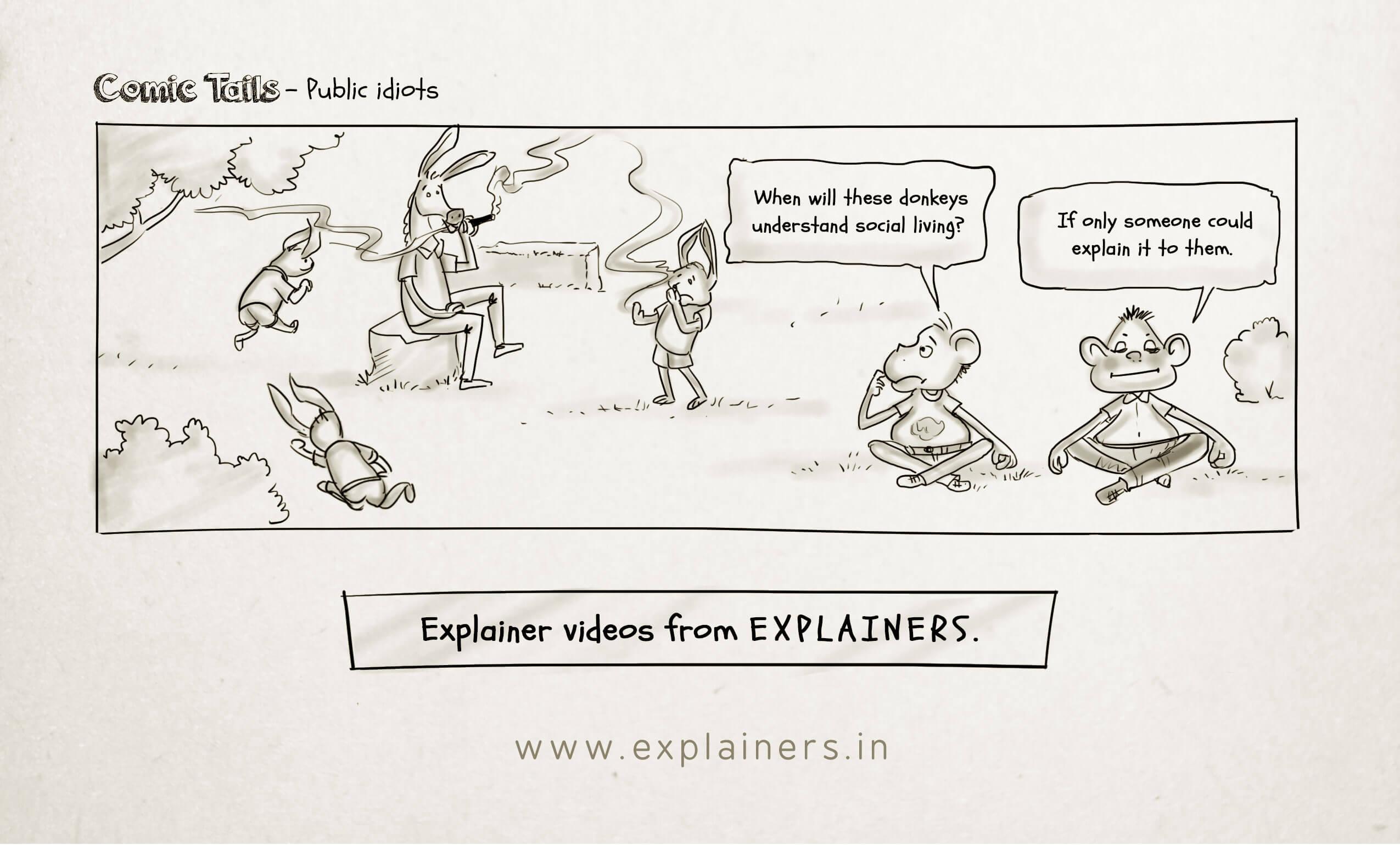 Comic Tails - Public idiots